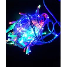Гирлянда Уличная Нить LED 100, мульти, белый провод