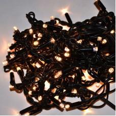 Гирлянда Уличная Бахрома для фасада LED 120, тёплый белый, черный провод
